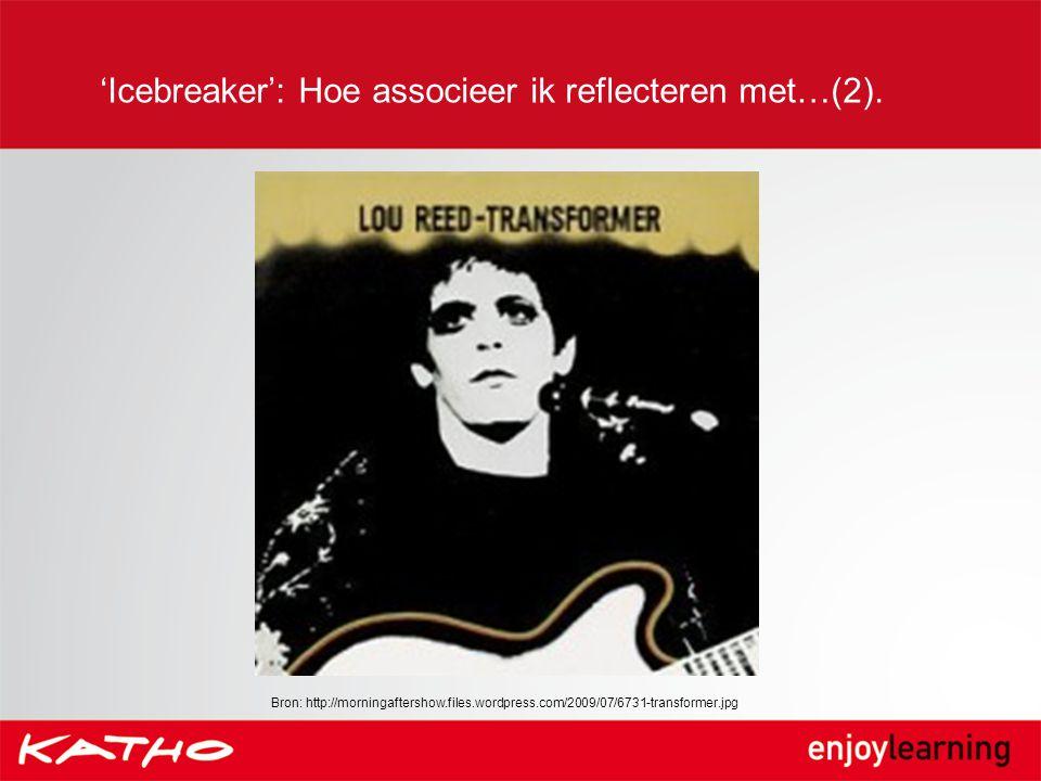 'Icebreaker': Hoe associeer ik reflecteren met…(2).