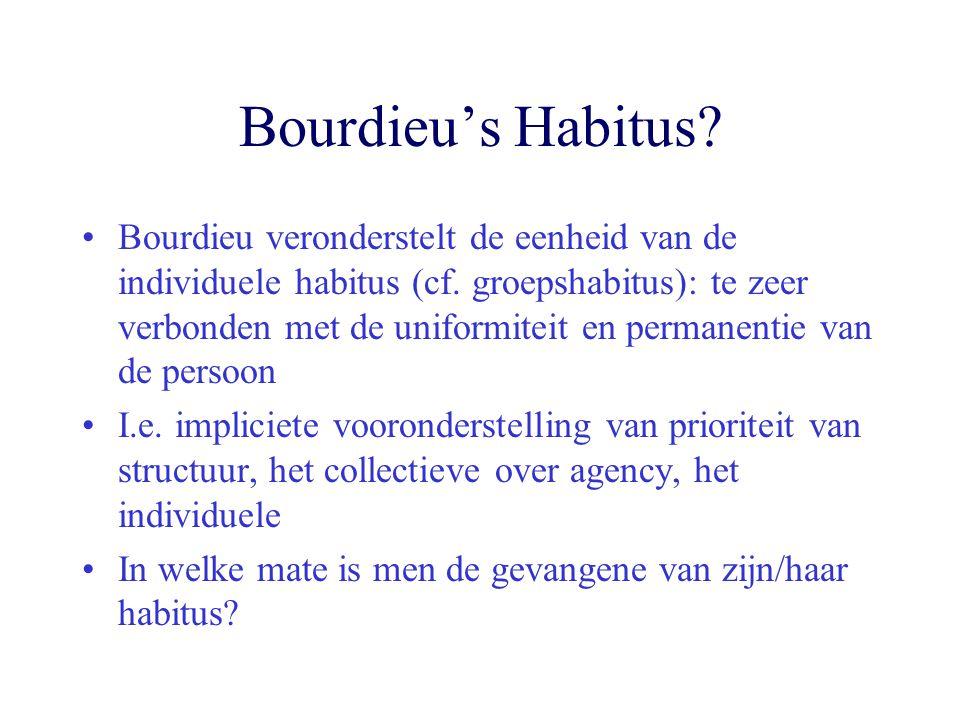 Bourdieu's Habitus