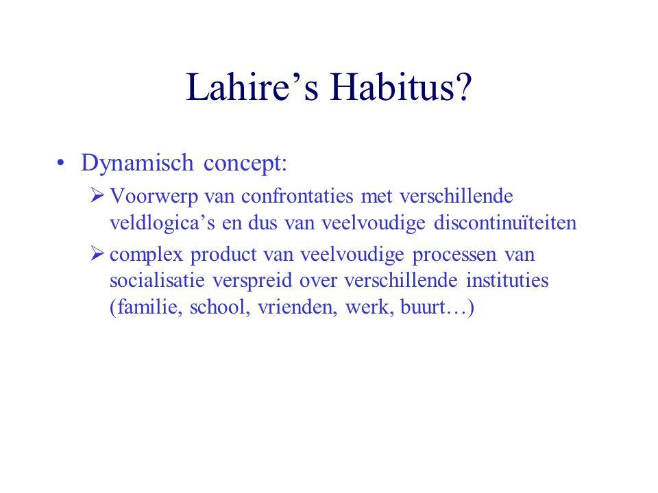 Lahire's Habitus Dynamisch concept: