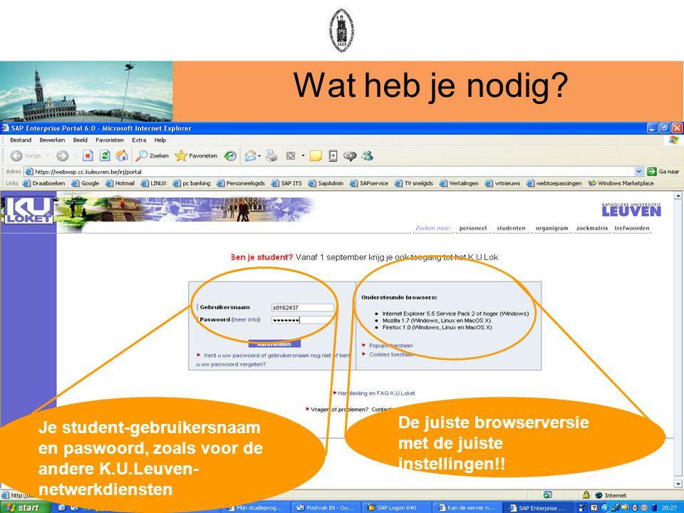 Wat heb je nodig De juiste browserversie