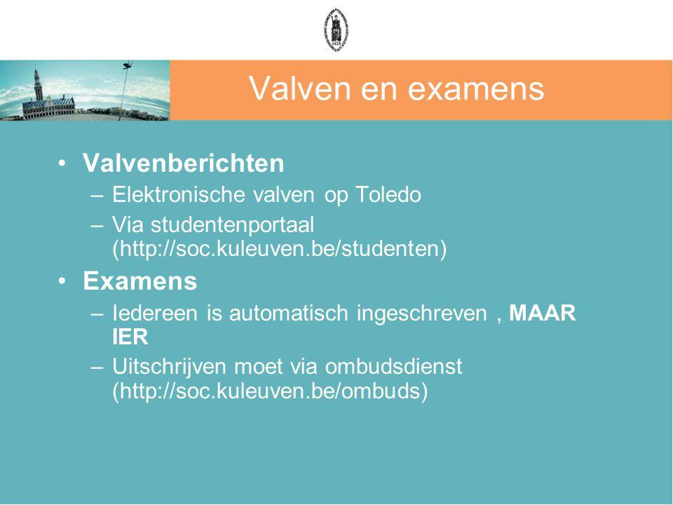 Valven en examens Valvenberichten Examens