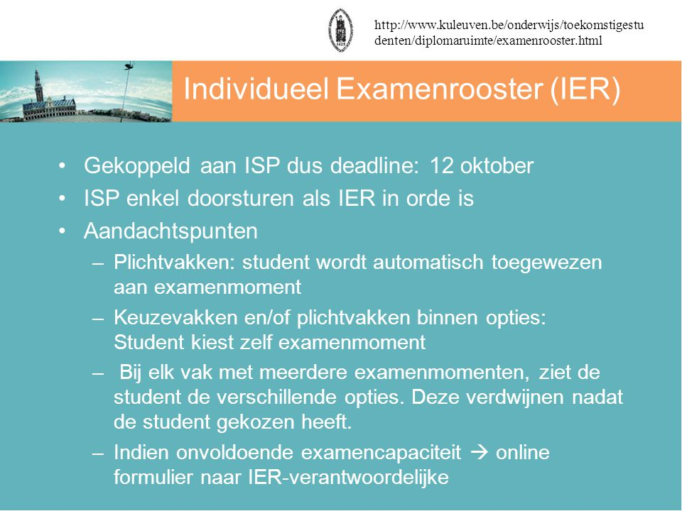 Individueel Examenrooster (IER)