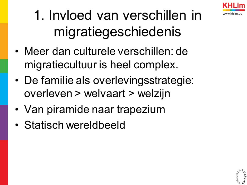 1. Invloed van verschillen in migratiegeschiedenis