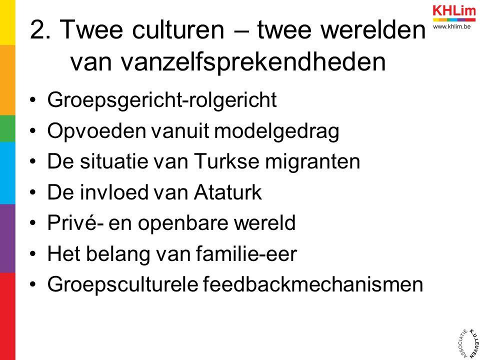 2. Twee culturen – twee werelden van vanzelfsprekendheden