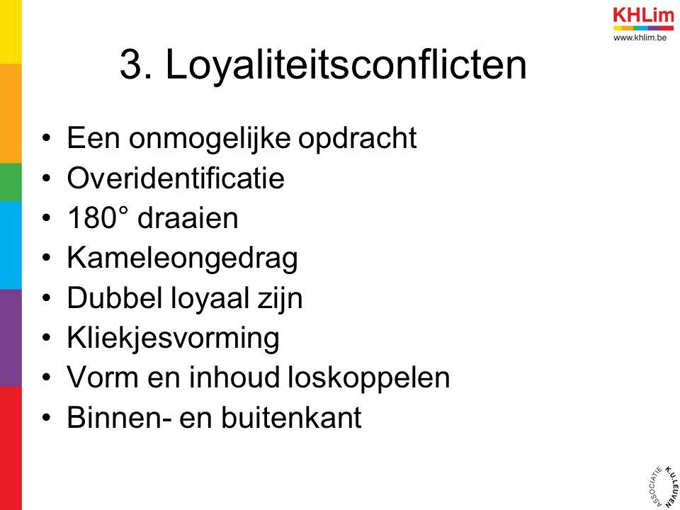3. Loyaliteitsconflicten