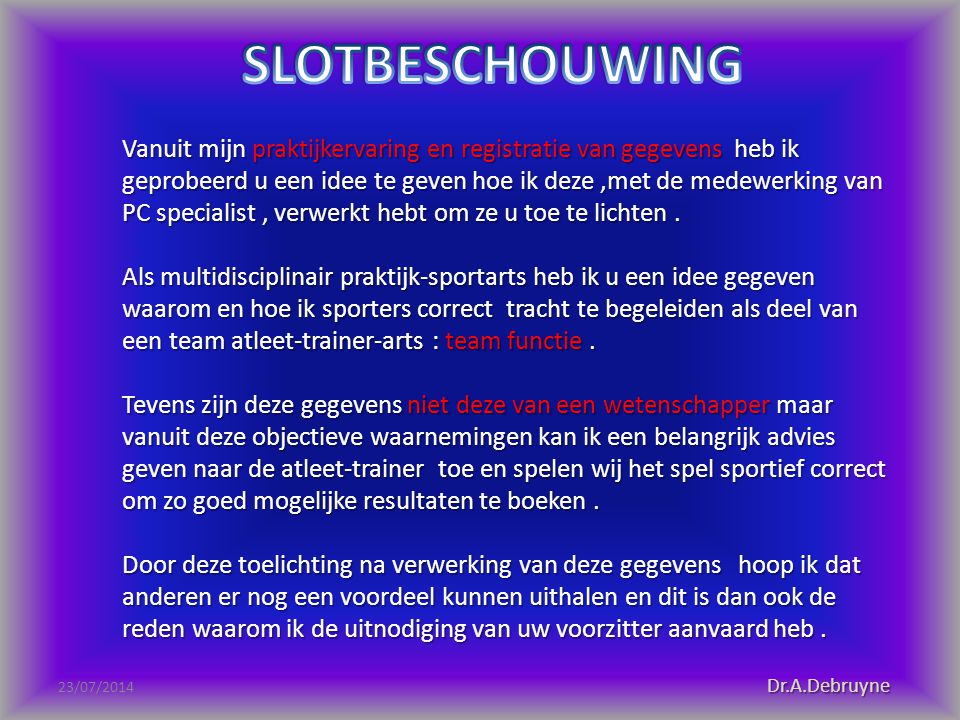SLOTBESCHOUWING