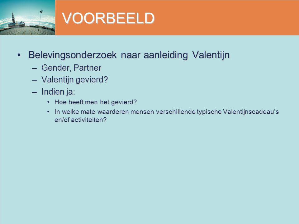 VOORBEELD Belevingsonderzoek naar aanleiding Valentijn Gender, Partner