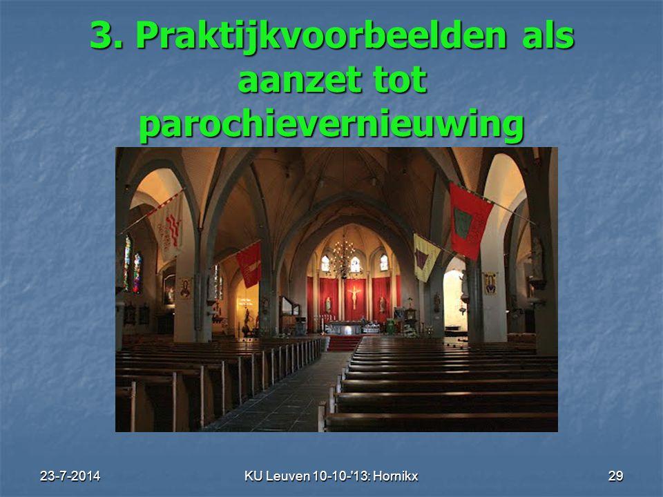 3. Praktijkvoorbeelden als aanzet tot parochievernieuwing