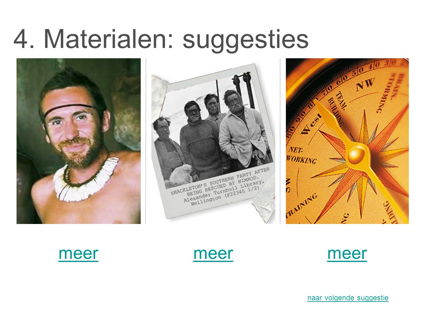 4. Materialen: suggesties