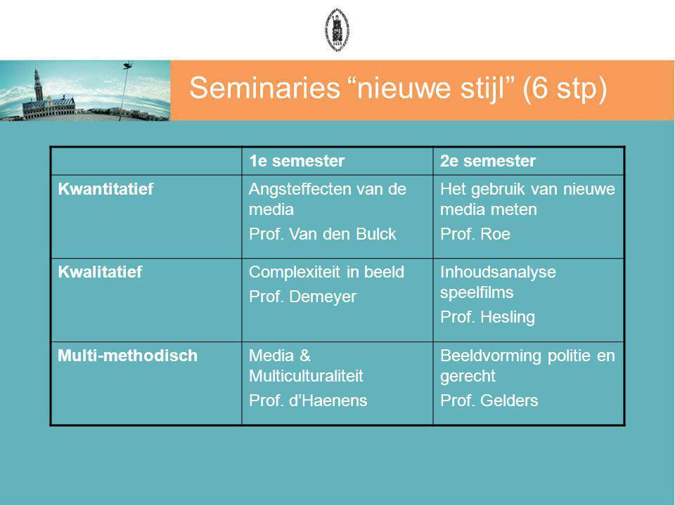 Seminaries nieuwe stijl (6 stp)