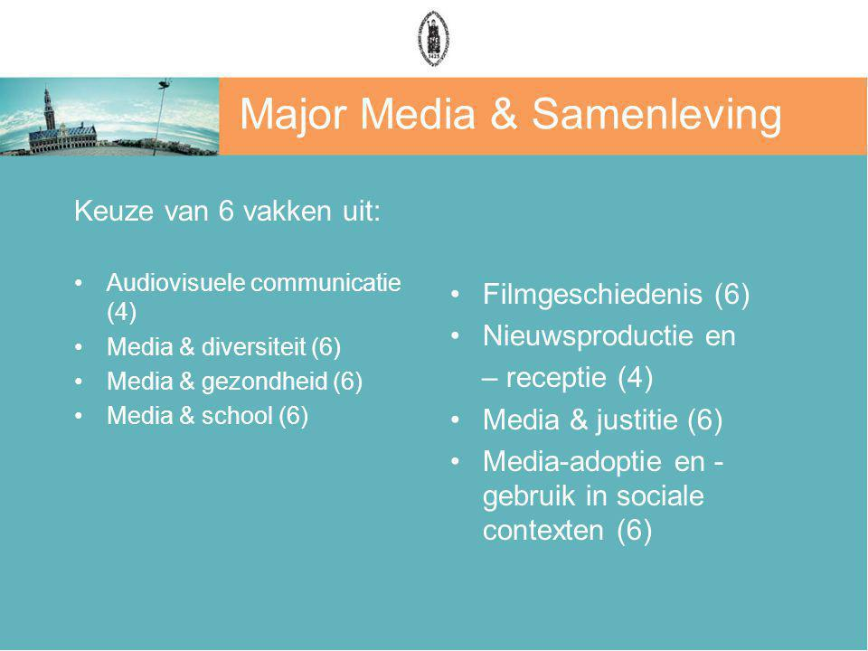 Major Media & Samenleving