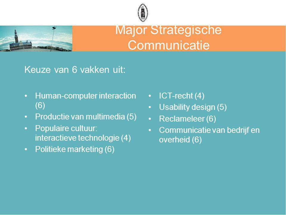 Major Strategische Communicatie