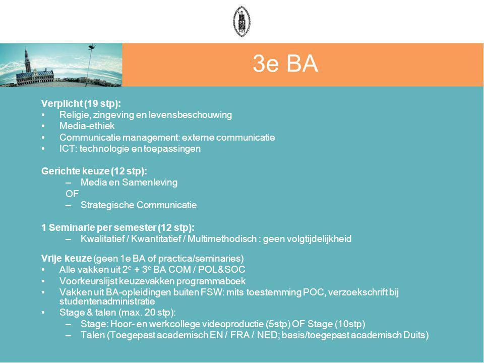 3e BA Verplicht (19 stp): Religie, zingeving en levensbeschouwing