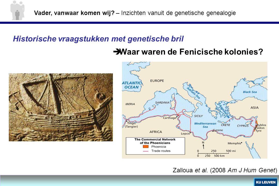 Waar waren de Fenicische kolonies
