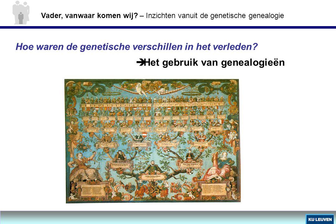 Het gebruik van genealogieën