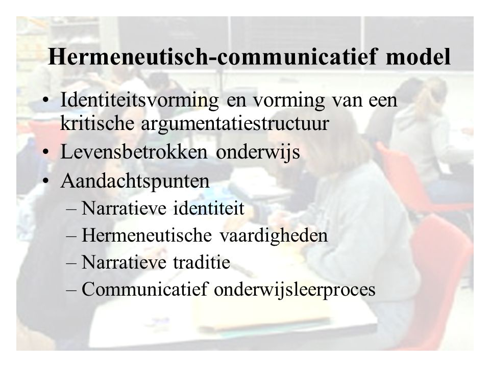 Hermeneutisch-communicatief model