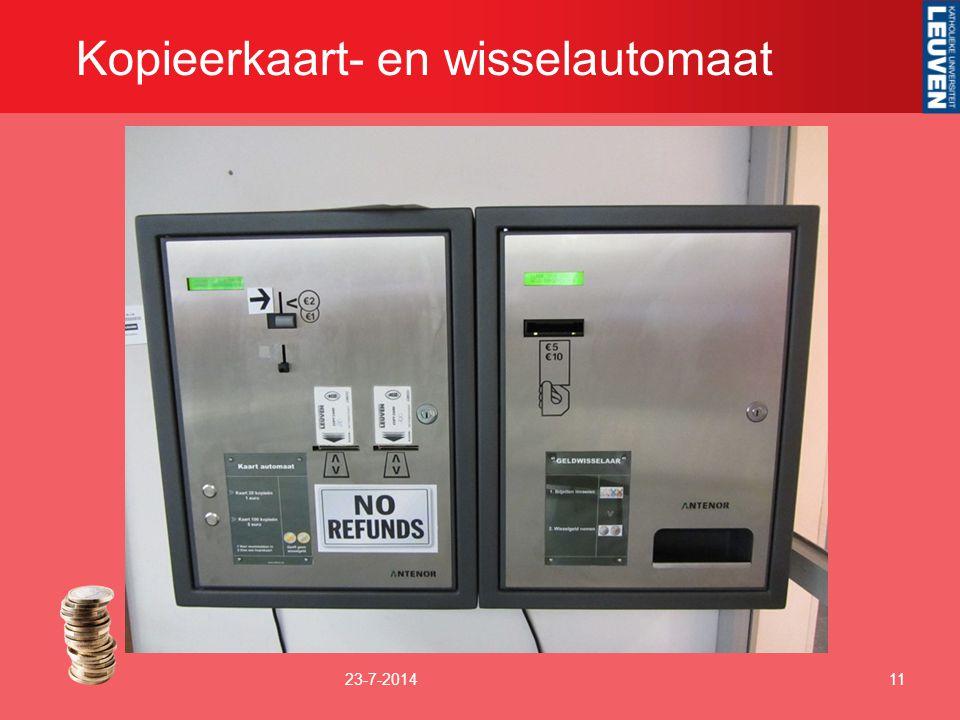 Kopieerkaart- en wisselautomaat