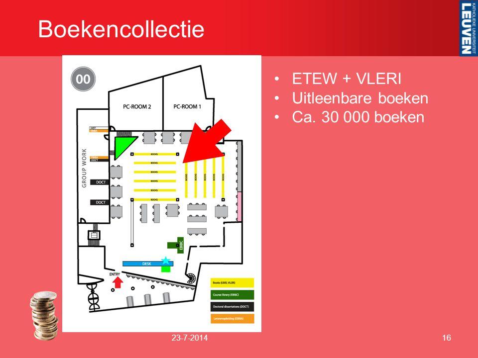 Boekencollectie ETEW + VLERI Uitleenbare boeken Ca. 30 000 boeken