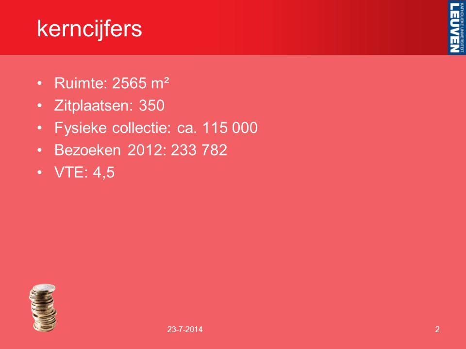 kerncijfers Ruimte: 2565 m² Zitplaatsen: 350