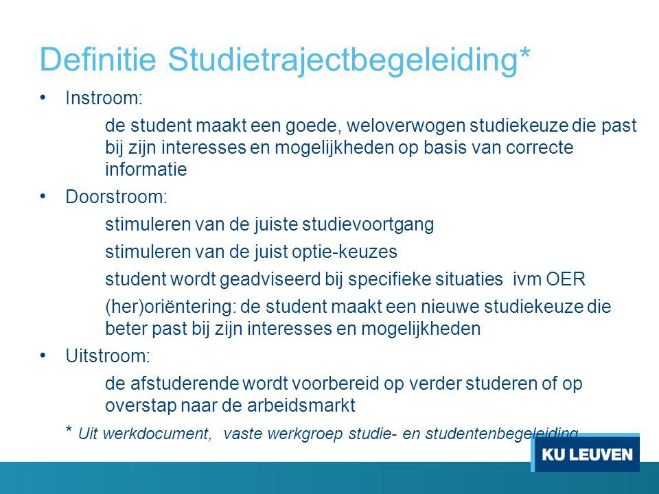 Definitie Studietrajectbegeleiding*