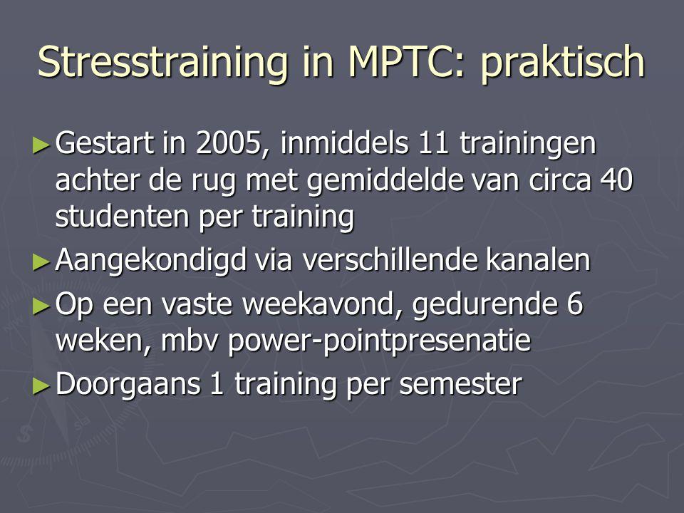 Stresstraining in MPTC: praktisch