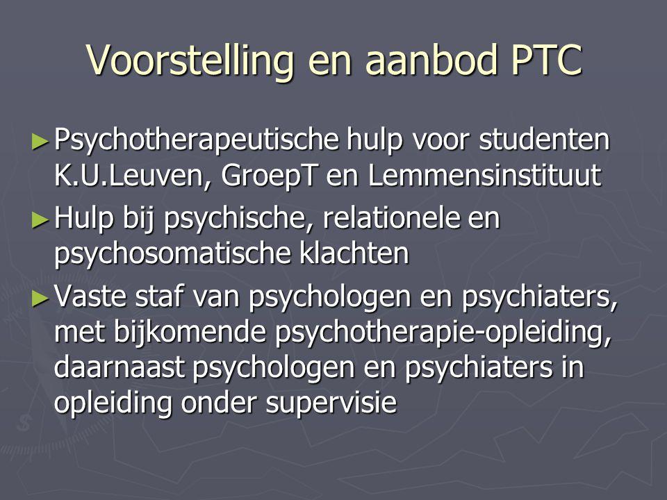 Voorstelling en aanbod PTC