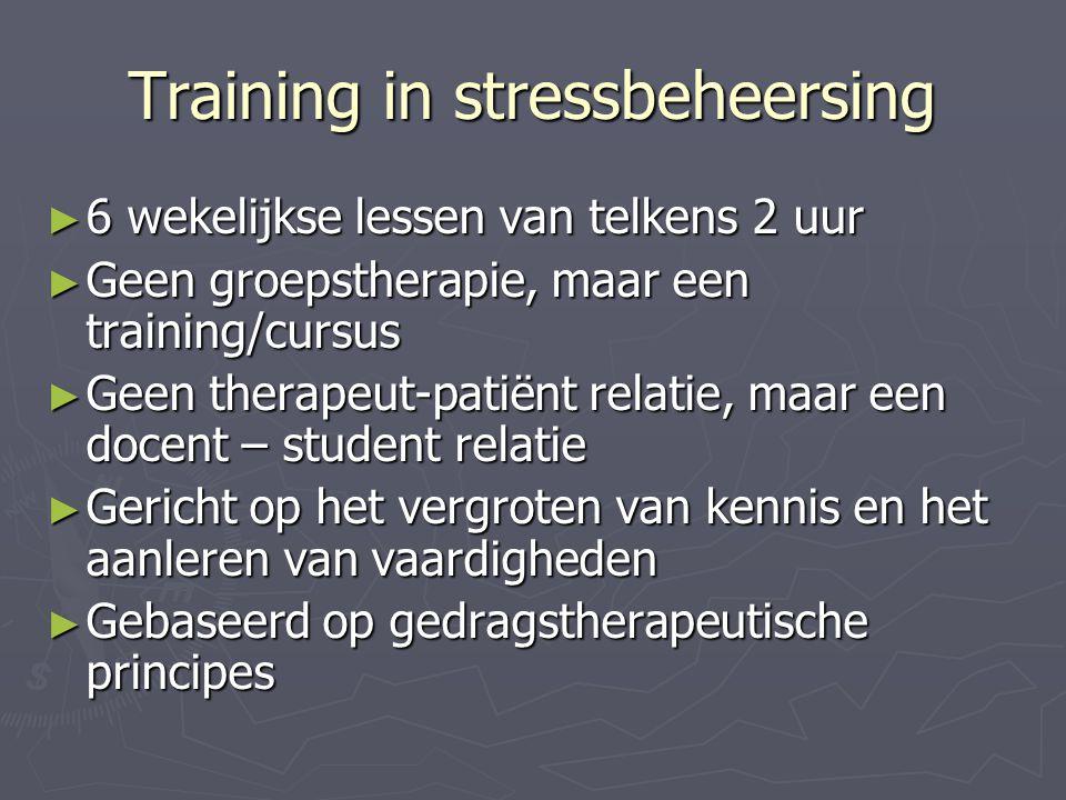 Training in stressbeheersing
