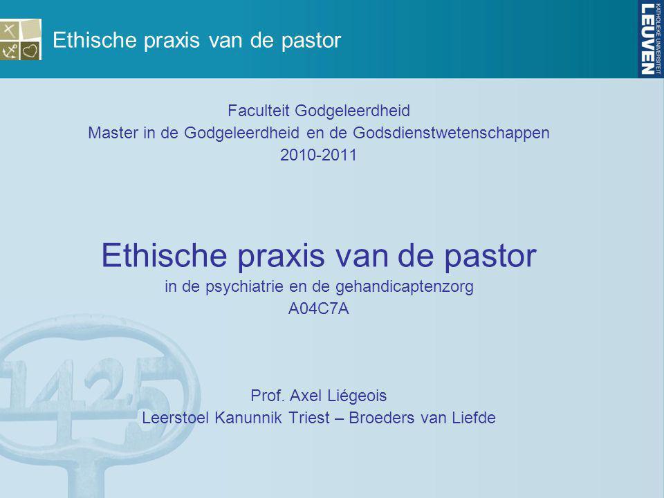 Ethische praxis van de pastor