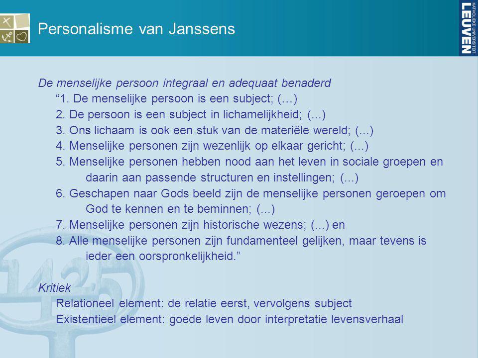 Personalisme van Janssens