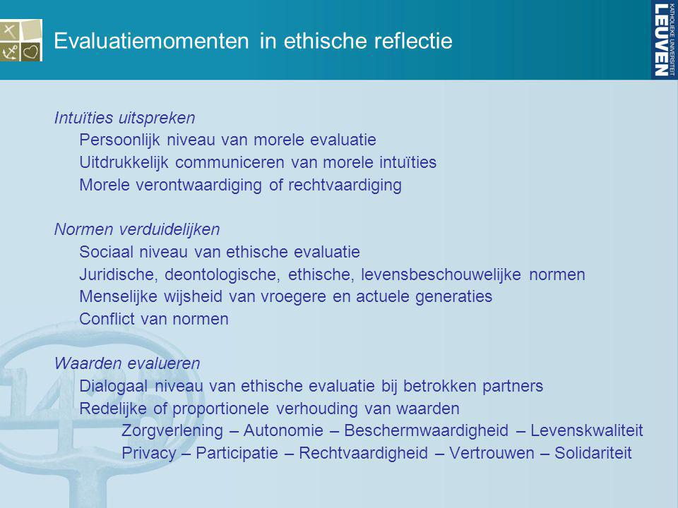 Evaluatiemomenten in ethische reflectie