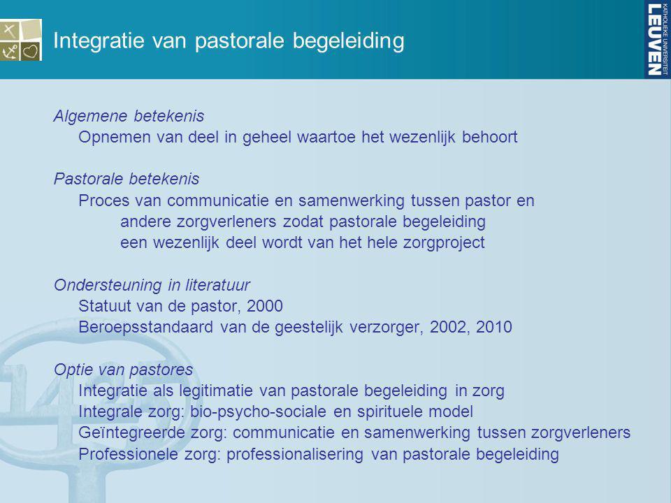 Integratie van pastorale begeleiding