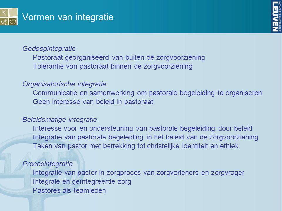 Vormen van integratie Gedoogintegratie