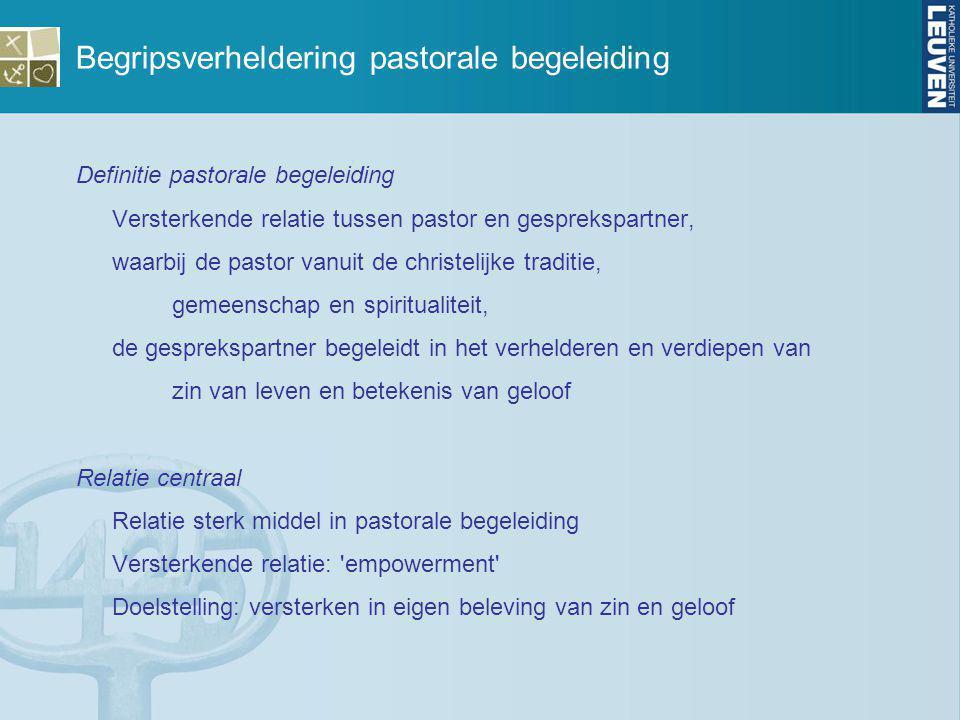 Begripsverheldering pastorale begeleiding