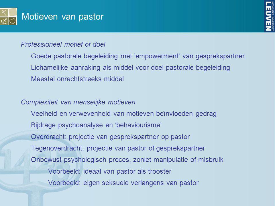 Motieven van pastor Professioneel motief of doel