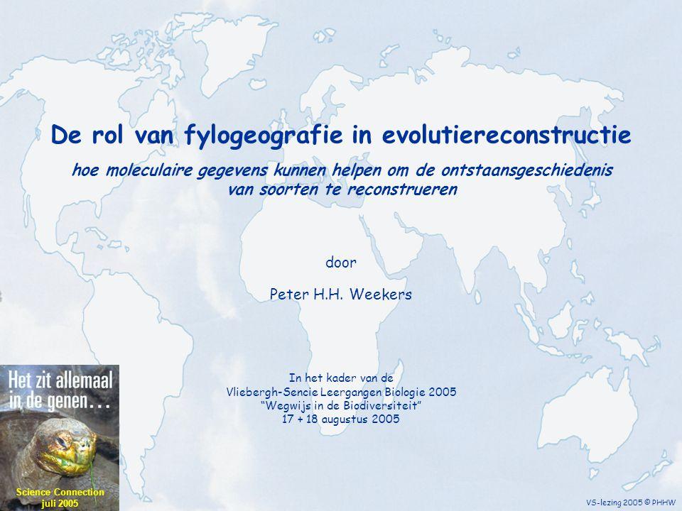 De rol van fylogeografie in evolutiereconstructie