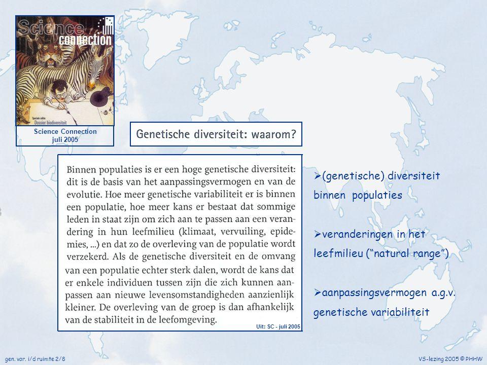 (genetische) diversiteit binnen populaties