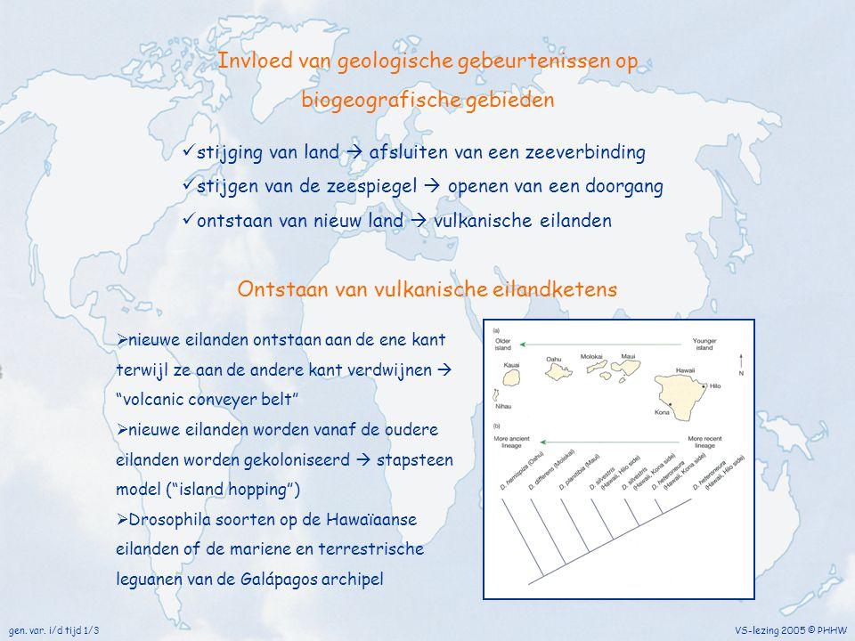 Invloed van geologische gebeurtenissen op biogeografische gebieden