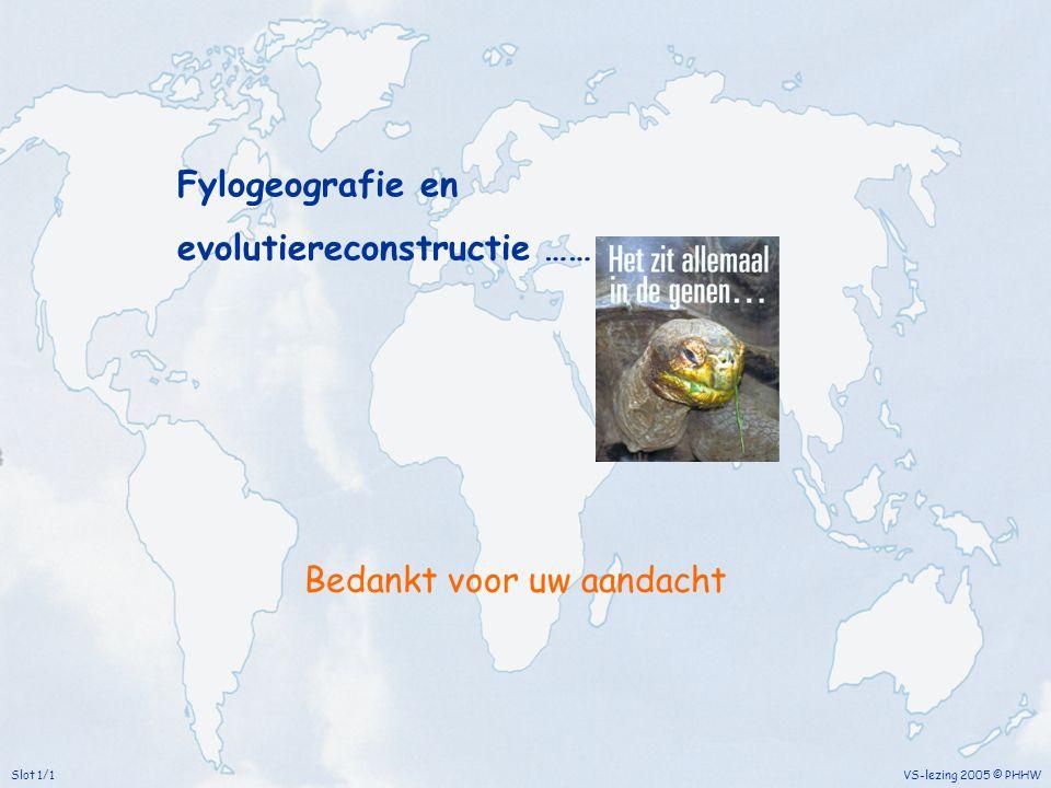 Fylogeografie en evolutiereconstructie ……