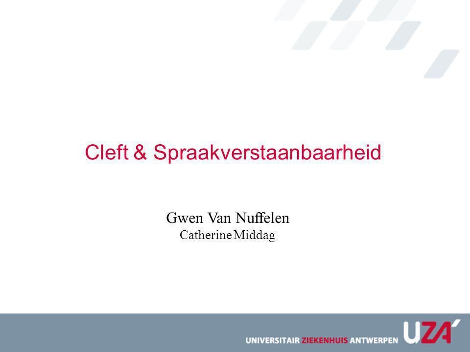 Cleft & Spraakverstaanbaarheid