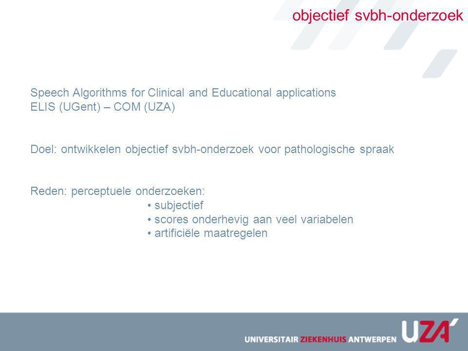 objectief svbh-onderzoek