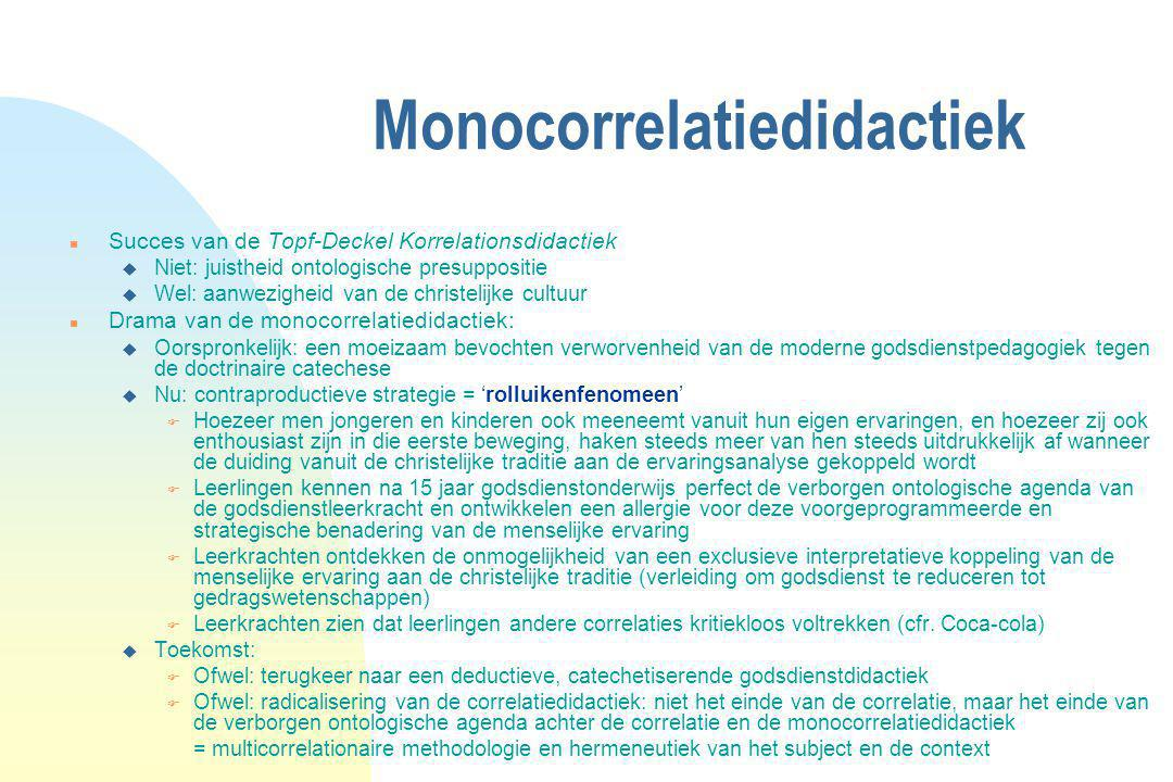 Monocorrelatiedidactiek
