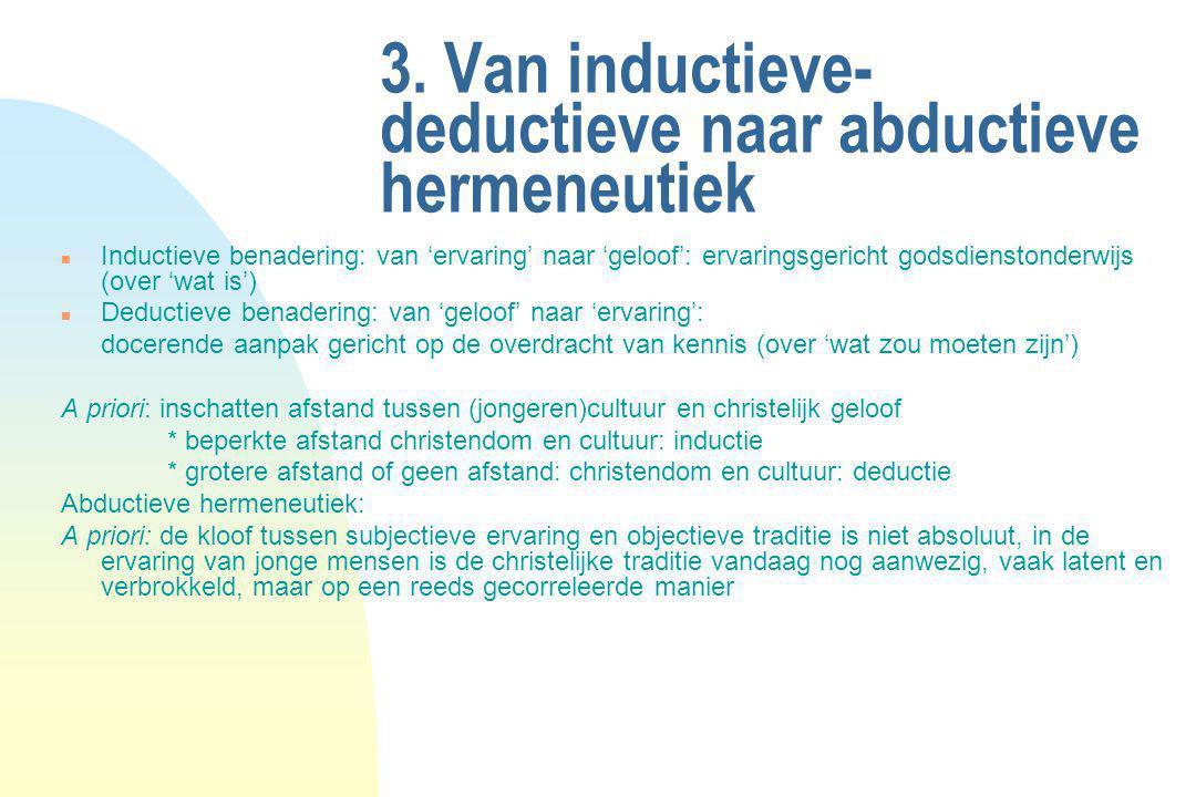3. Van inductieve-deductieve naar abductieve hermeneutiek