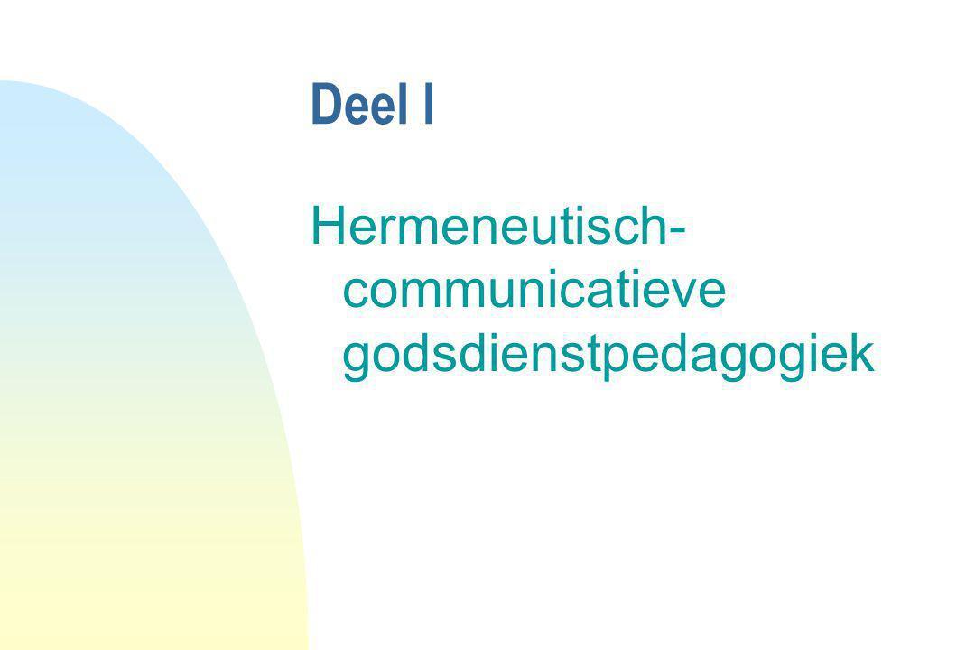 Deel I Hermeneutisch-communicatieve godsdienstpedagogiek