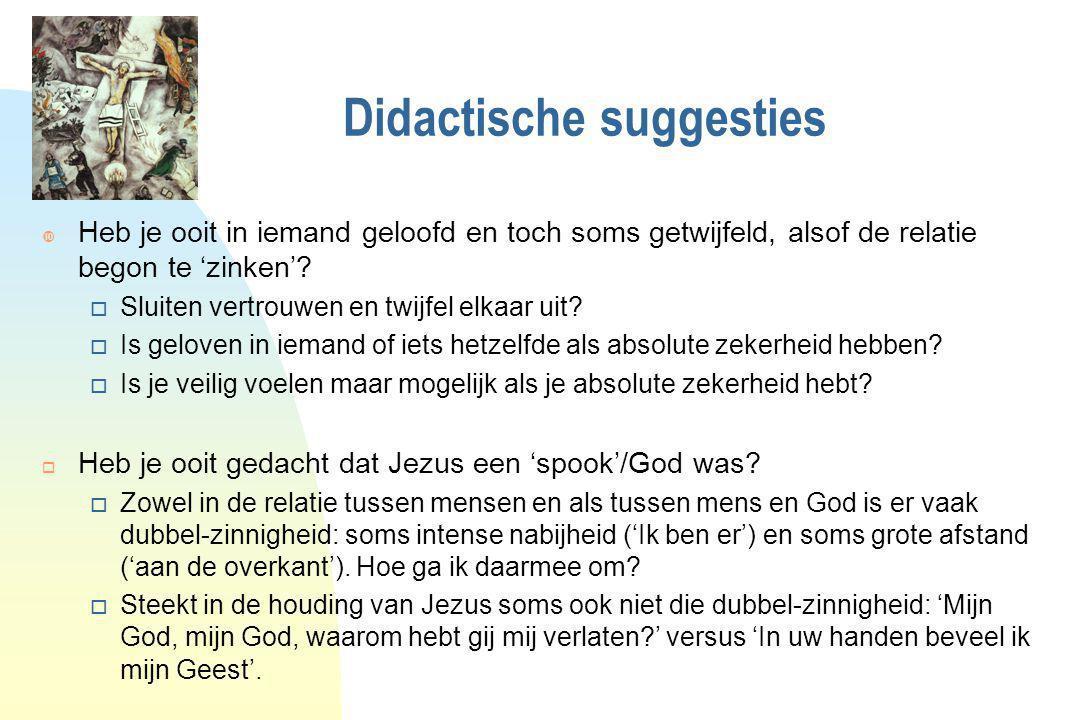 Didactische suggesties