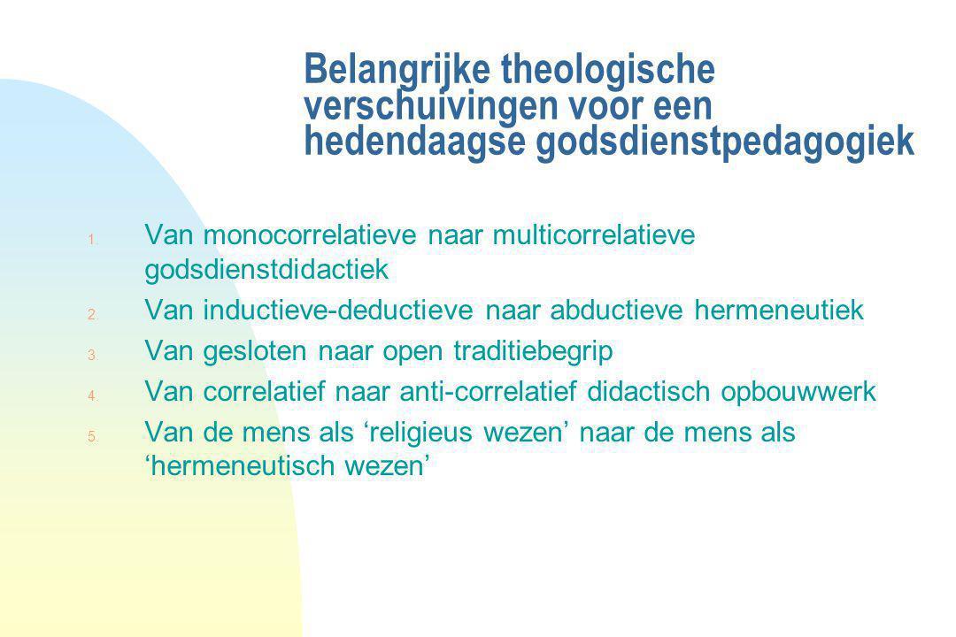 Belangrijke theologische verschuivingen voor een hedendaagse godsdienstpedagogiek