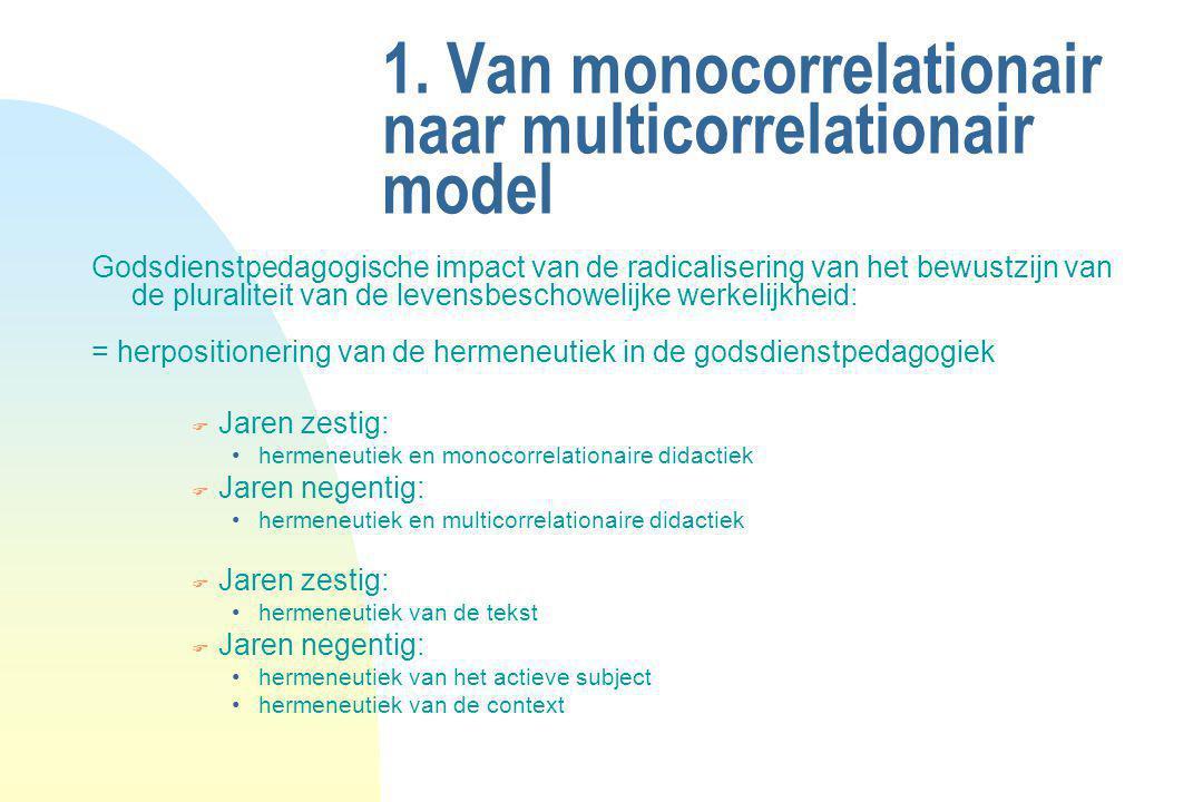 1. Van monocorrelationair naar multicorrelationair model