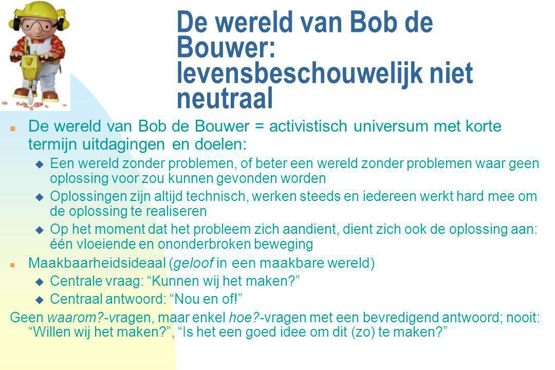 De wereld van Bob de Bouwer: levensbeschouwelijk niet neutraal