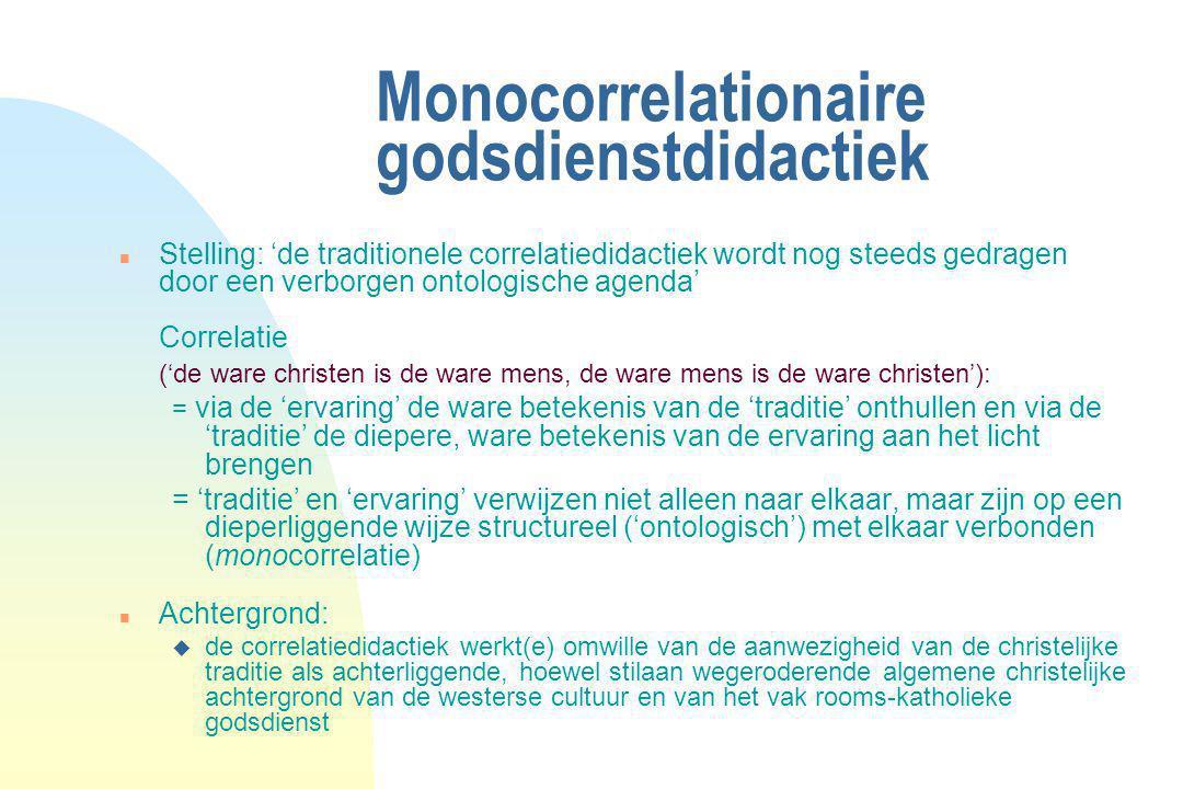 Monocorrelationaire godsdienstdidactiek