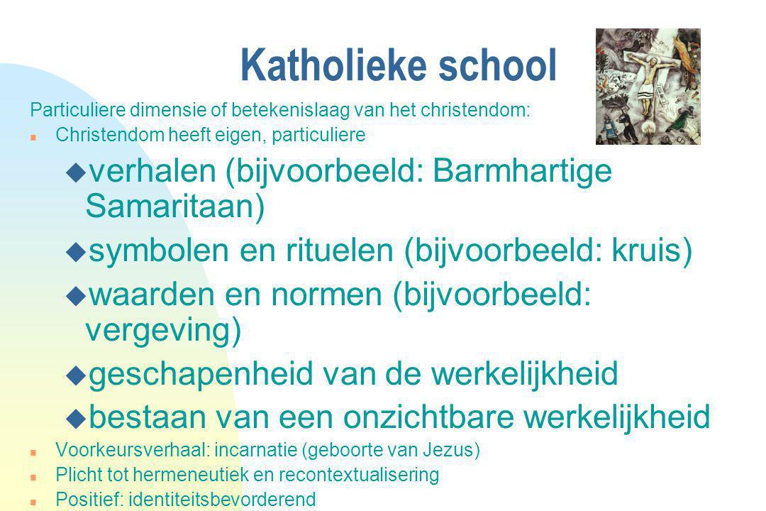 Katholieke school verhalen (bijvoorbeeld: Barmhartige Samaritaan)