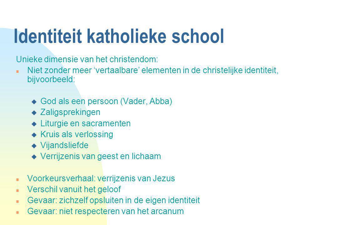 Identiteit katholieke school